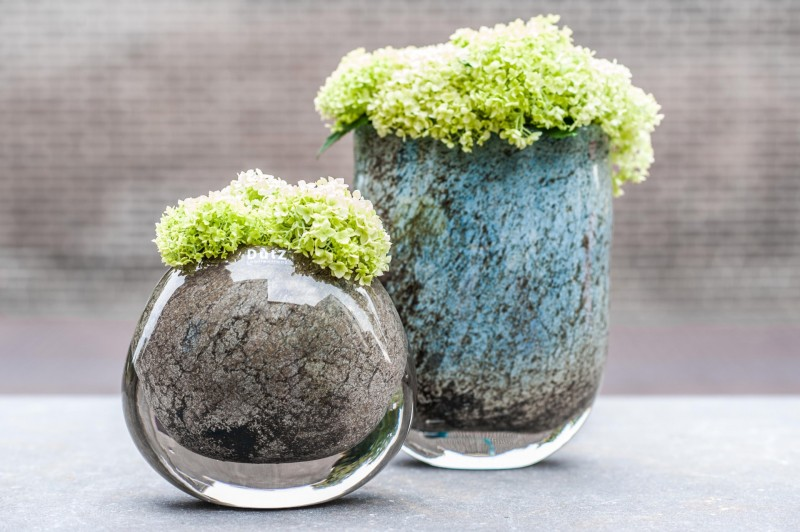 Dutz- Glas- Vasen